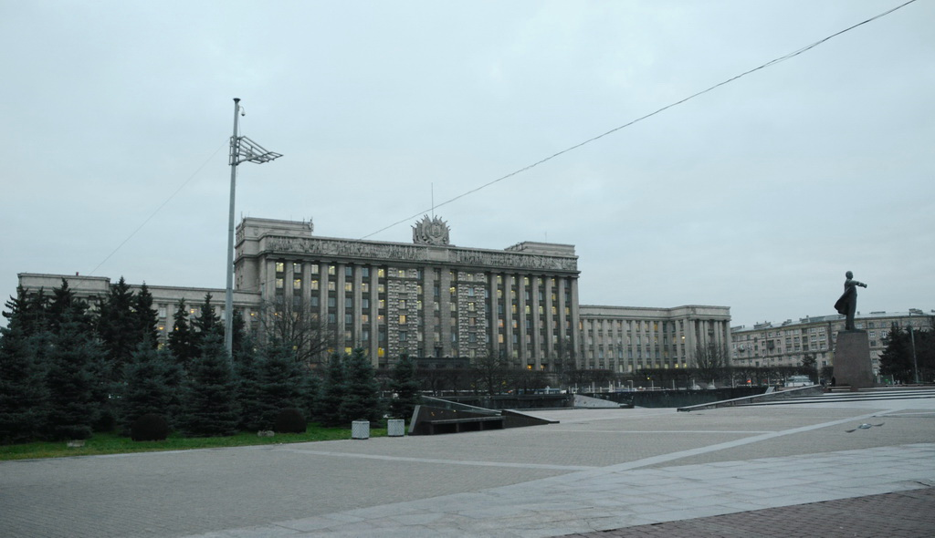 Building of Stalin`s empire style