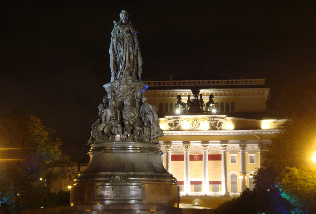 Alexandrinsky Theater at night