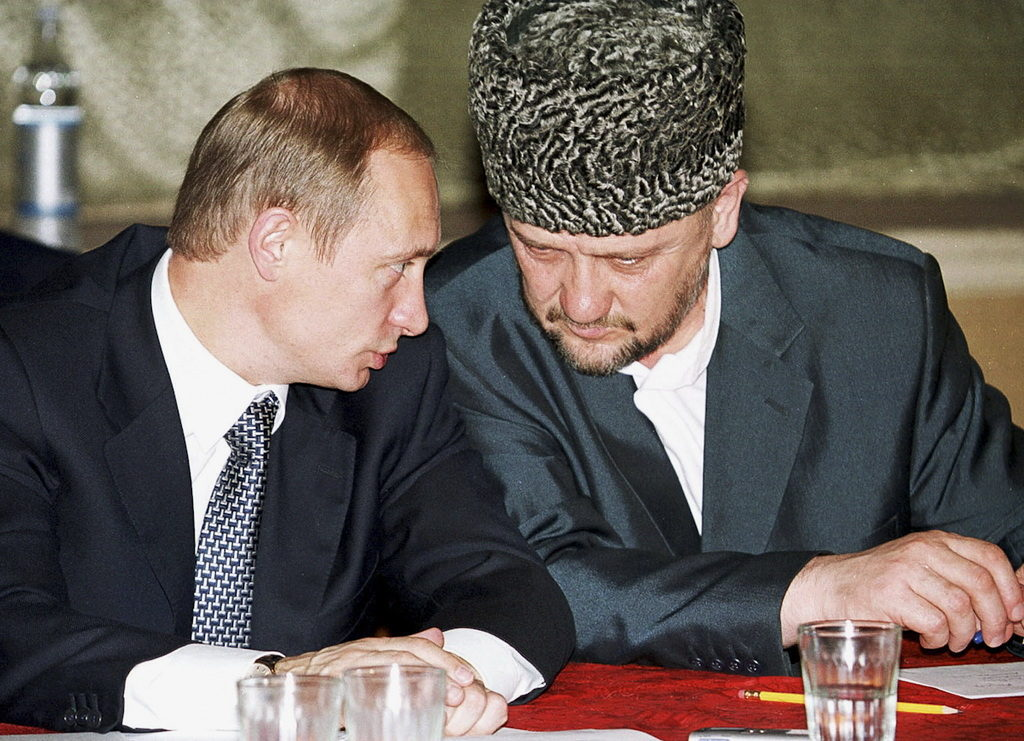 Ahmat Kadyrov and Vladimir Putin