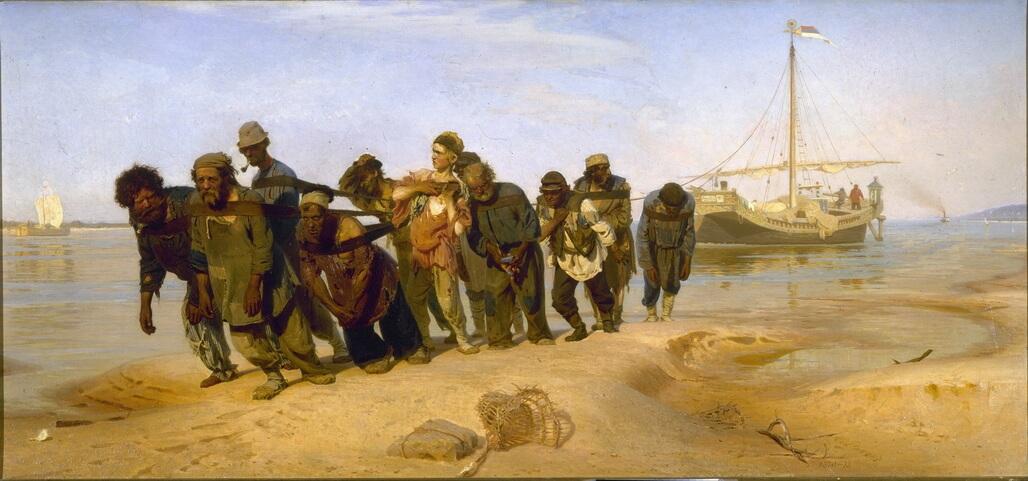 Barge Haulers on the Volga - Ilya Repin