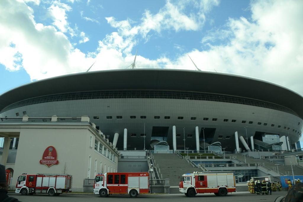 The stadium Saint-Petersburg