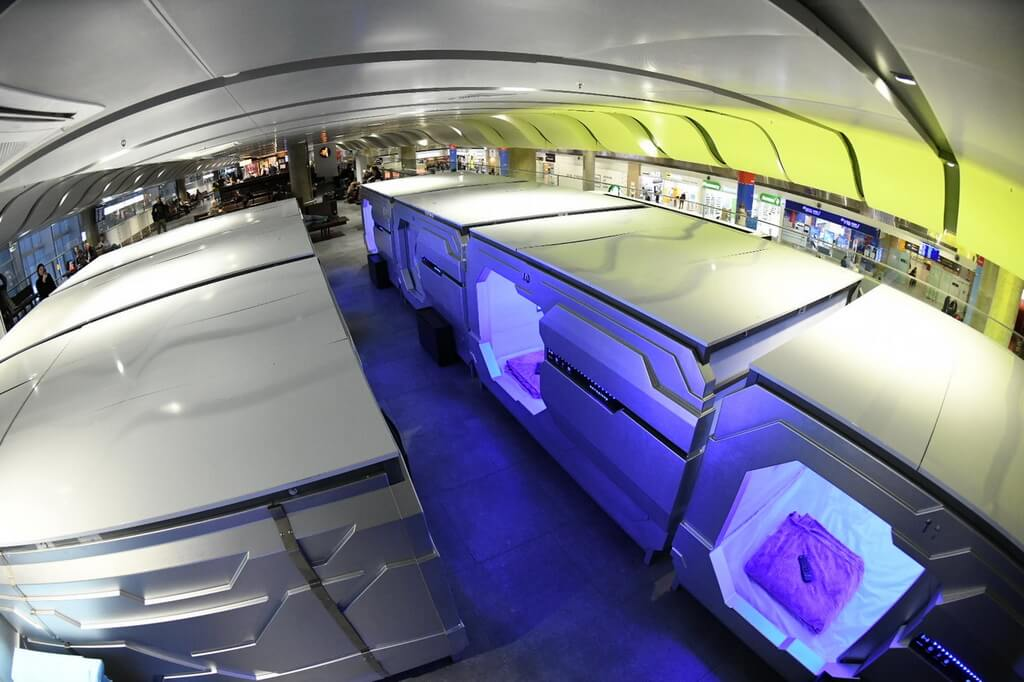 The Aerosleep capsule hotel in Pulkovo airport