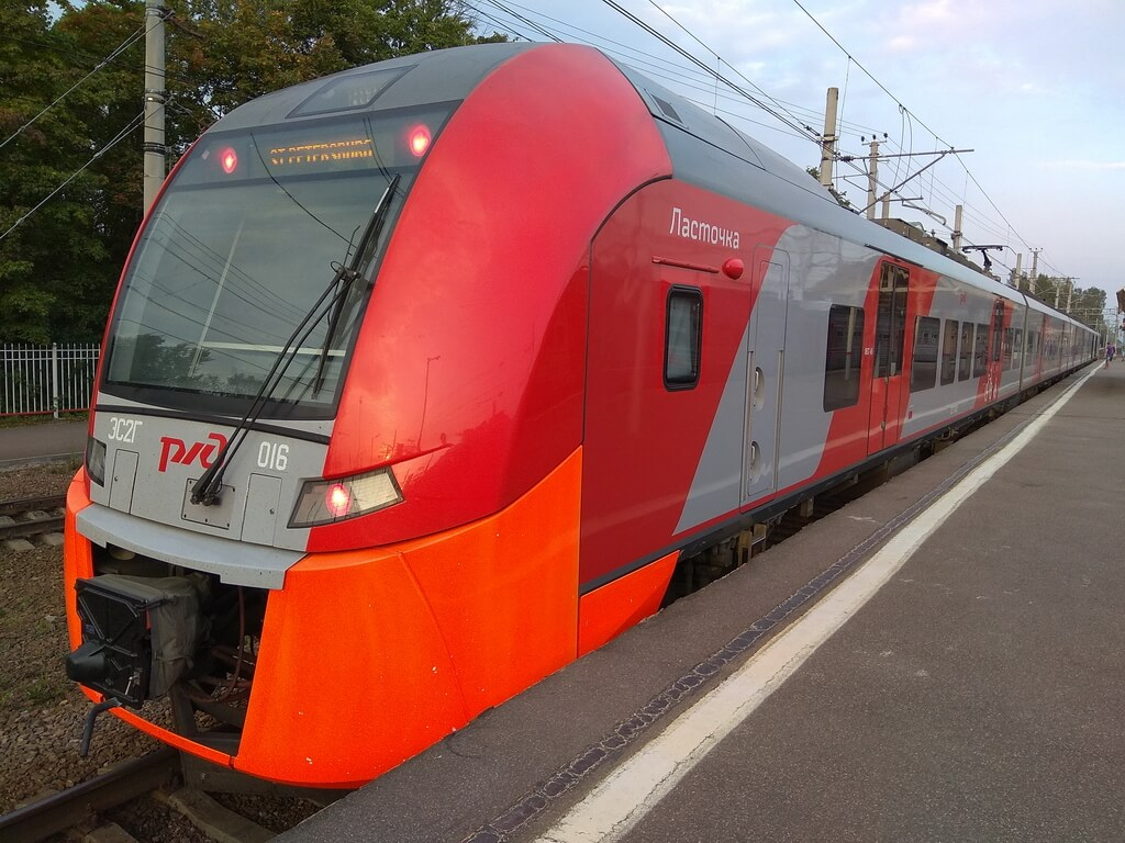 The Lastochka high-speed electric train