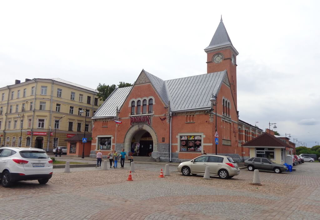 the market building with clock tower