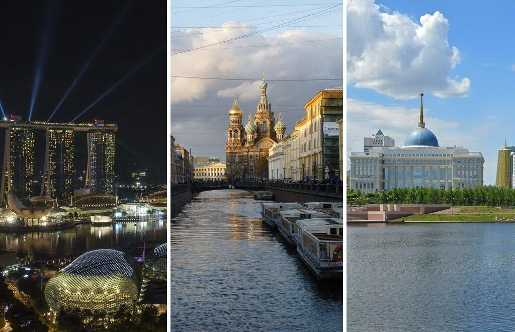 Singapore, St. Petersburg and Astana