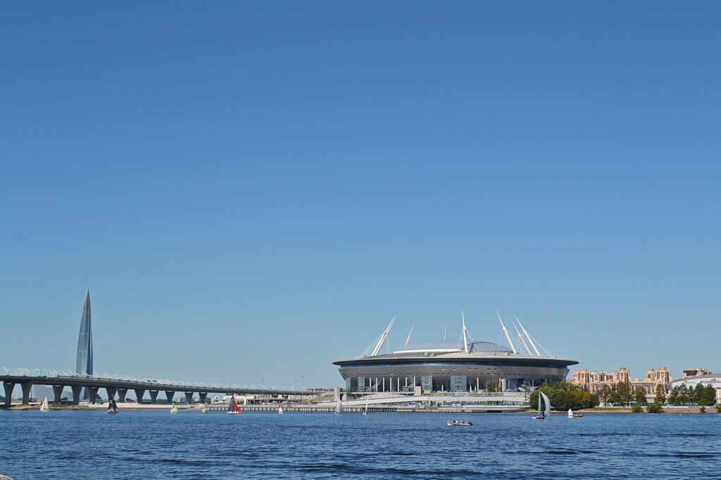 Gazprom Arena stadium on the Krestovsky island