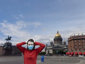Wearing Face Mask in St Petersburg